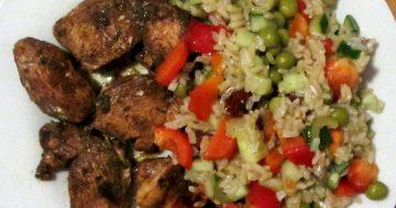 Pomysł na obiad: kurczak w occie balsamicznym z ryżem i warzywami