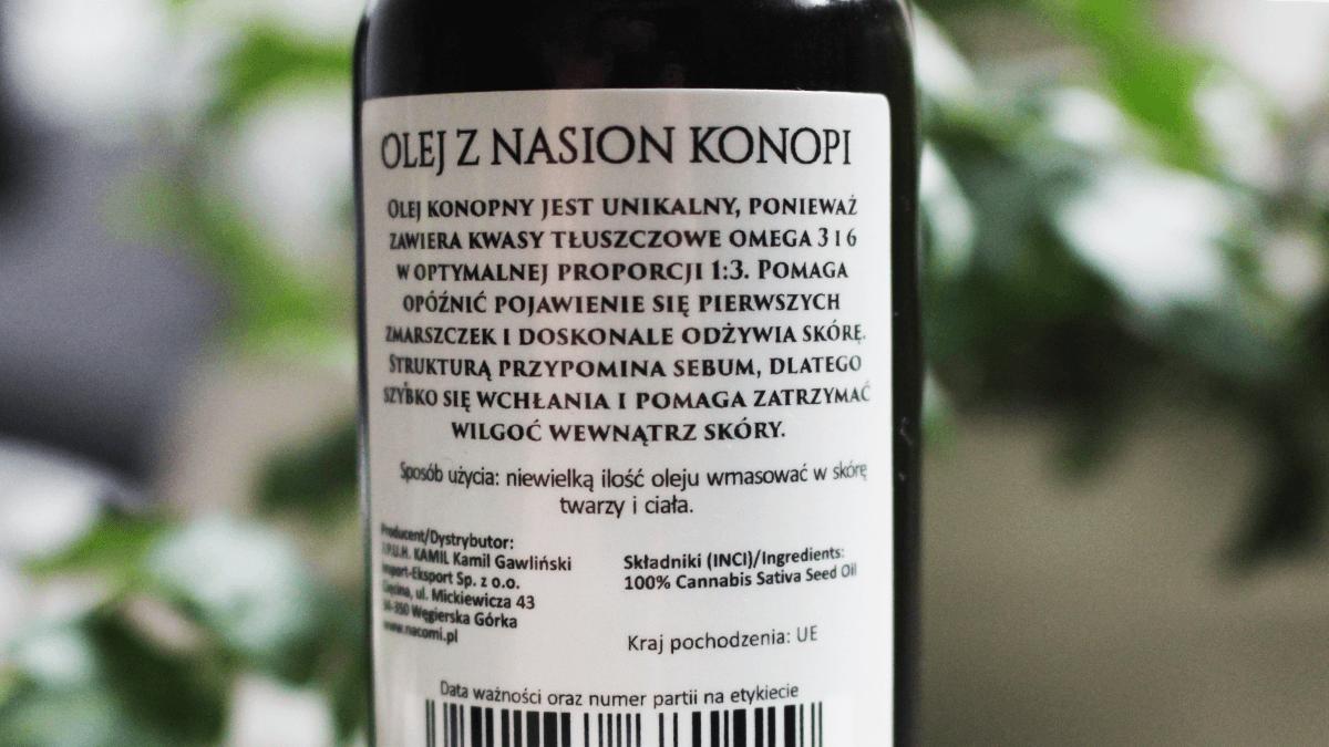 olej-konopny-Nacomi-skład-recenzja