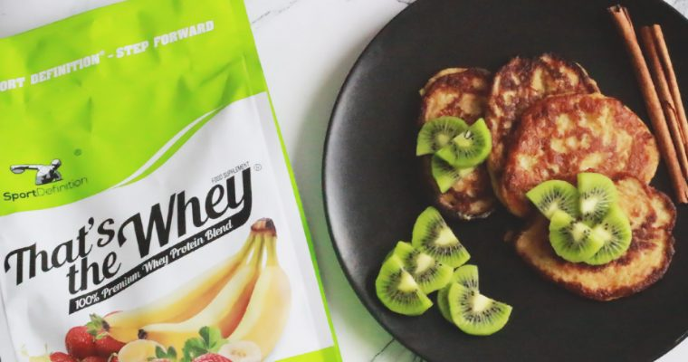 Placuszki z odżywką białkową bez cukru i mąki