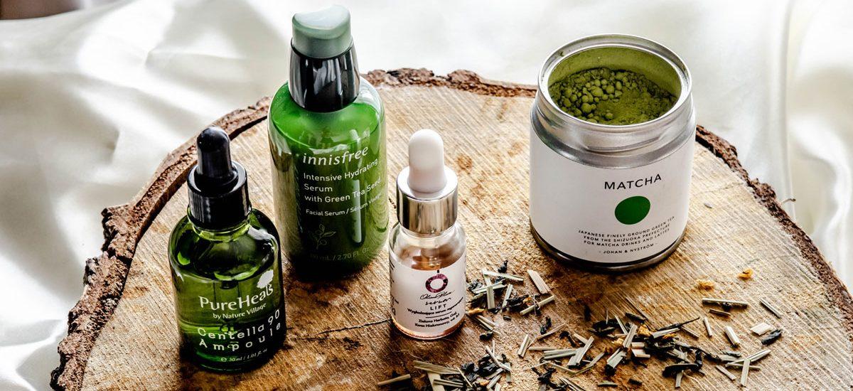 Kosmetyki z zieloną herbatą. Co dają skórze?